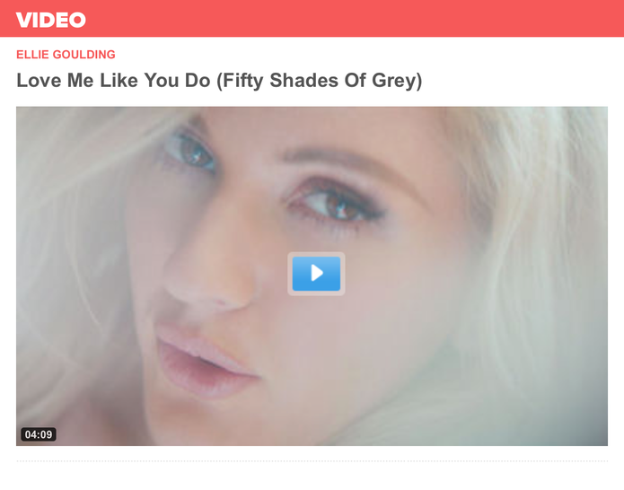 Love Me Like You Do - by Ellie Goulding - Video and Soundtrack FIFTY SHADES OF GREY - Universal Music