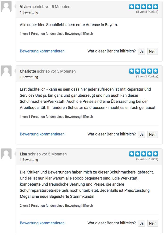 Kundenerfahrungen Onlinebewertung