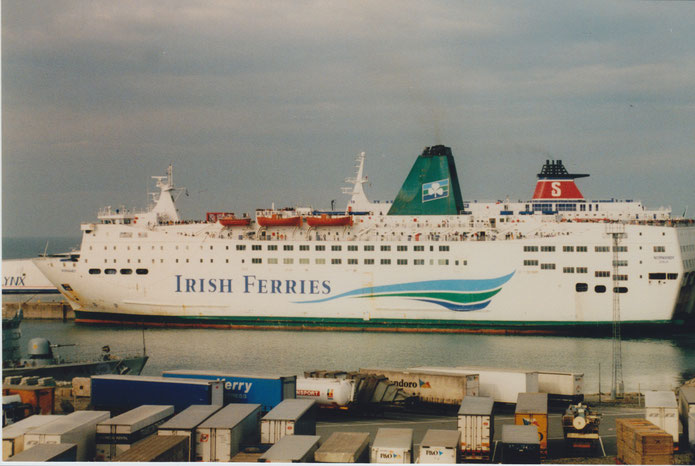 Normandy berthed in Rosslare.