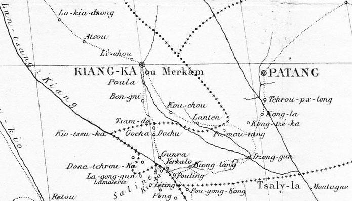 Itinéraire de Yerkalo à Patang