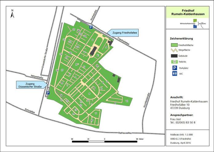 Quelle: Wirtschaftsbetriebe Duisburg (WBD) Lageplan 2016