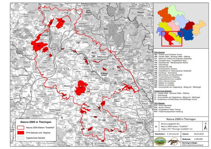 "Betreuungsgebiet des LPV ""Thüringer Grabfeld"" e.V. bzw. der Natura 2000-Station ""Grabfeld"""