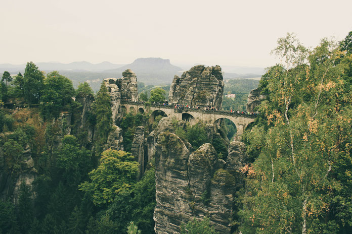 Saxon Switzerland ofpenguinsandelephants of penguins & elephants Bastei Bridge view