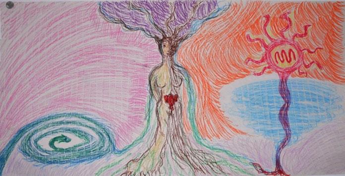 ...il femminino in equilibrio grazie ai quattro elementi...