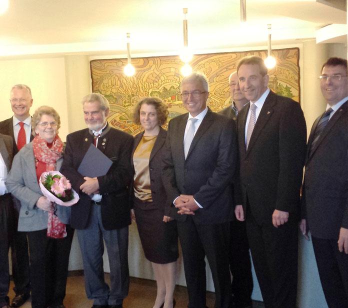 Willibald Bühler, Marie-Theres Schmidt, Roger Lewentz, Frank Puchtler, Jörg Denninghoff, Minister, Innenminister, Rheinland-Pfalz