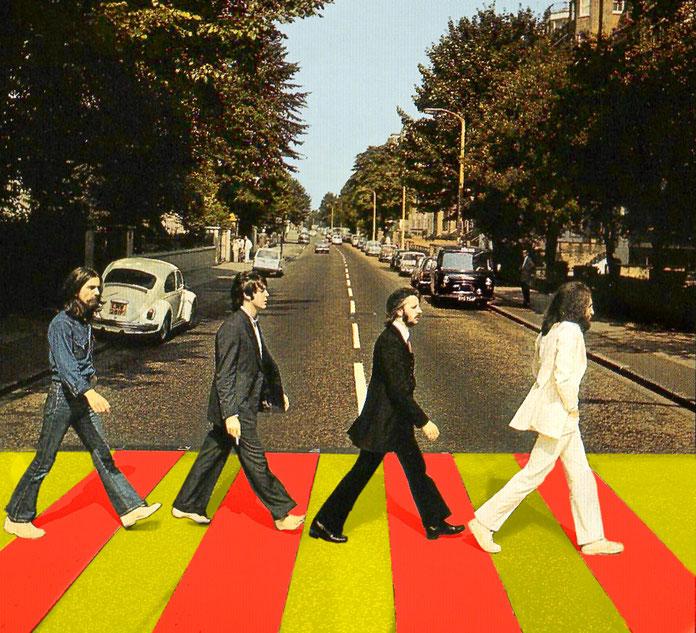 L´Ajuntament de Westminster (Londres) destaca el seu pas zebra més famós, el d´Abbey Road, amb els colors groc i vermell en senyal de benvinguda al nou estat europeu