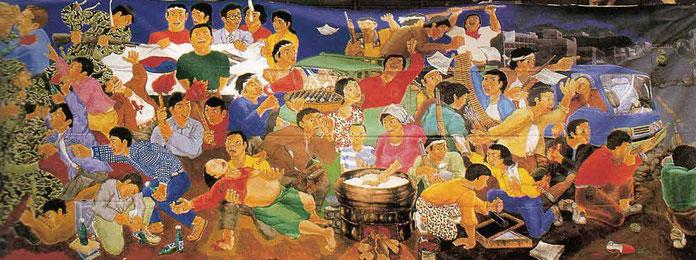 コルゲクリム「民族解放運動史ー光州民衆抗争」1989 年
