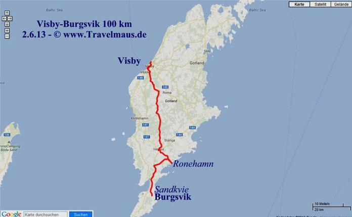 Visby-Burgsvik 100 km