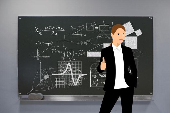 Animation einer Lehrkraft