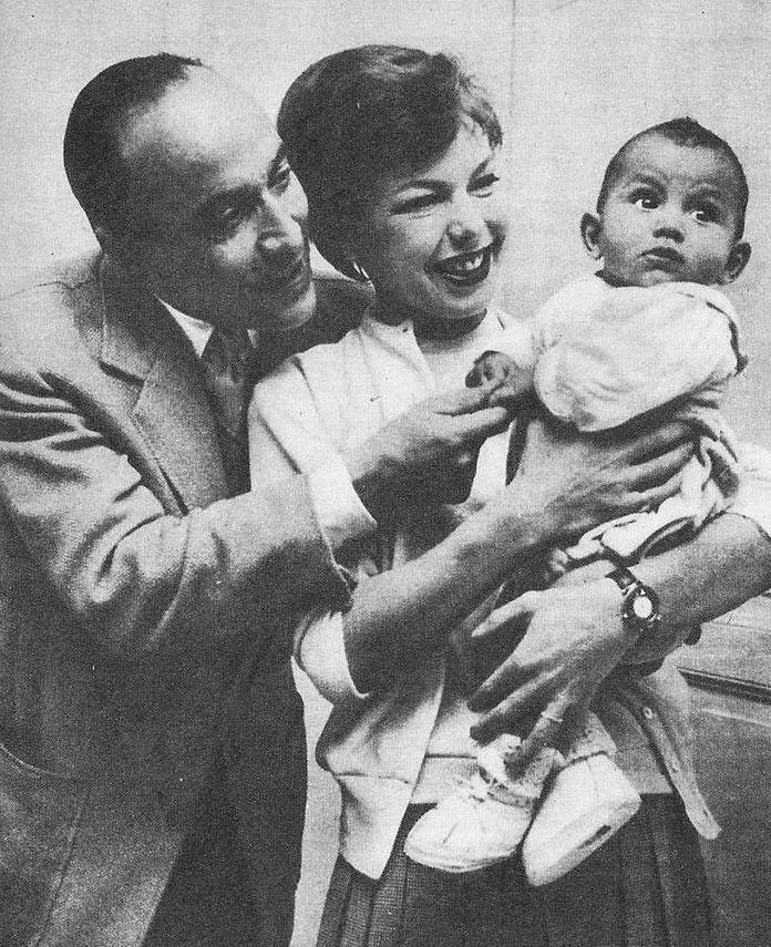 Si Brahim el Glaoui, Cécile Aubry et leur fils Mehdi