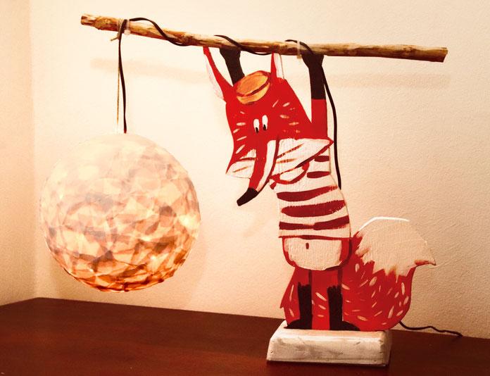 Illustration in 3D - eine Nachttischlampe für Kinder.
