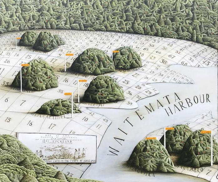 'Waitemata' 2018, oil on canvas, 130 x110 cm