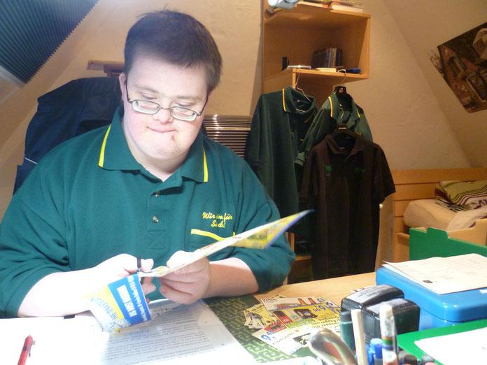 Oliver Sievers in seinem Marktkauf-Büro