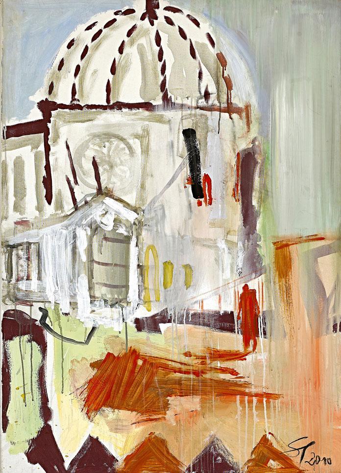 Kirche im Süden · 2010 · 900 x 1.200 mm · Öl auf Leinwand