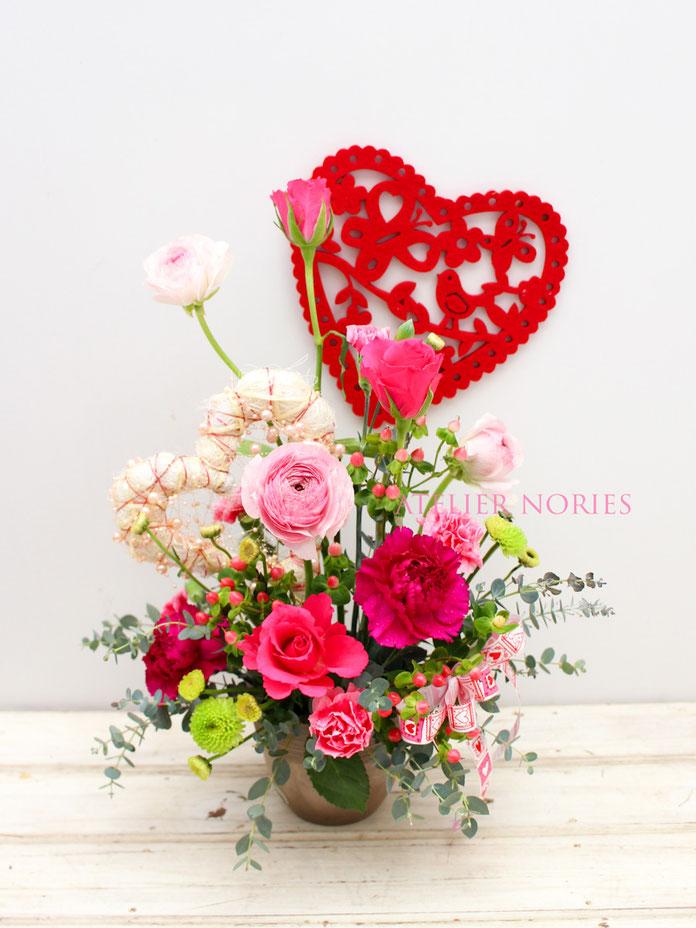 Valentine ヴァレンタインのアレンジメント