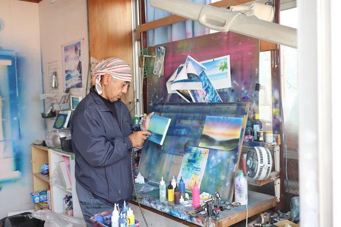 美術工房Feel,我如古信一,エアブラシ,かんばん,沖縄