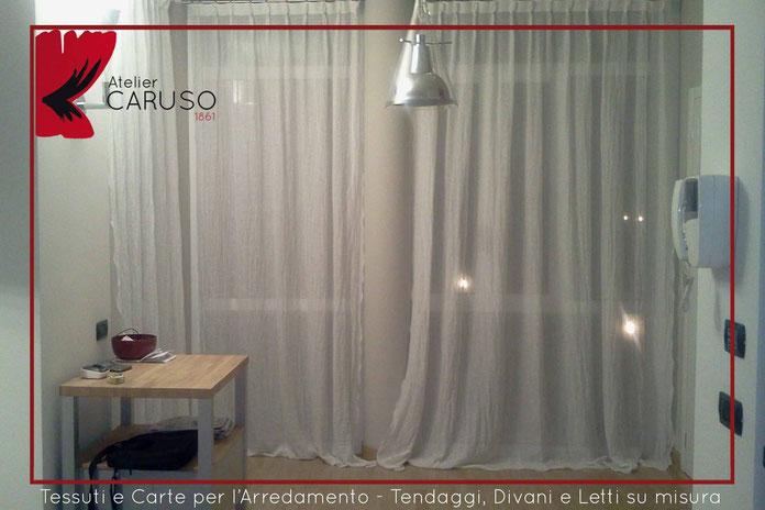 Tende Di Lino Bianche.Tende In Lino Atelier Tessuti Arredamento Tende Tendaggi Interni