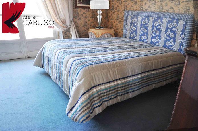 Letto su misura atelier tessuti arredamento tende - Tende per sopra il letto ...