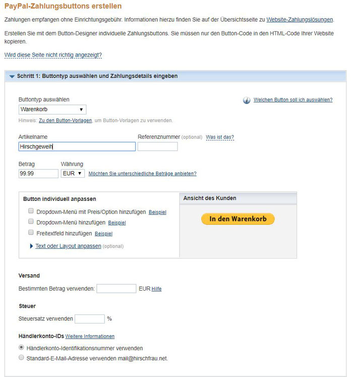 Anleitung Jimdo Shop Kosten senden - Bild 4