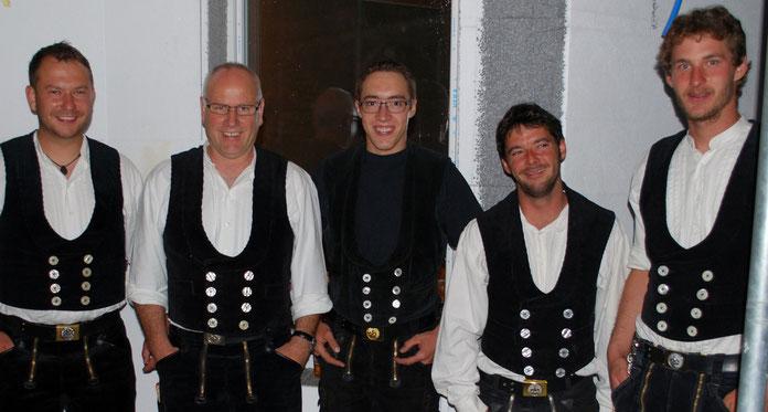 Team 2014: Nino Kunfermann, Ueli Raguth Tscharner, Andreas Abt, Cyrill Näf, Paul Caflisch