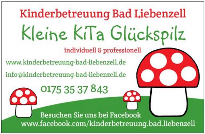 Kinderbetreuung Glückspilz Bad Liebenzell KITA Visitenkarte Kontakt