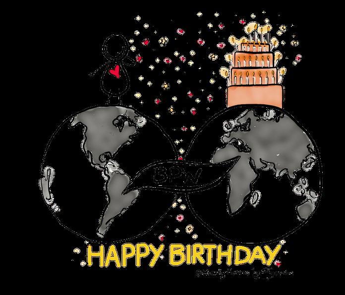 """Für """"Business Professional Women"""" kurz BPW Switzerland durfte ich auf Basis vom Logo eine herzliche und ganz individuelle Geburtstagskarte kreieren. Herzlichen Dank."""