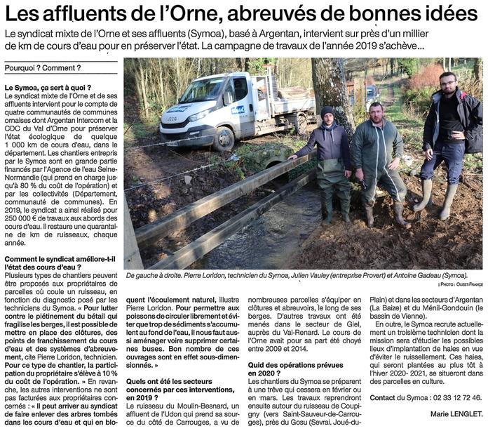 Ouest-France Argentan - 11 décembre 2019