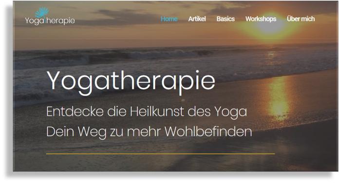 Yogatherapie Blog Website von Birgit Lenarz
