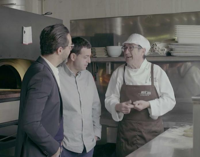Imagen del programa Cuineres i Cuiners dedicado a Dénia, con Pep Romany, Ricard Camarena y el gran Quique Dacosta