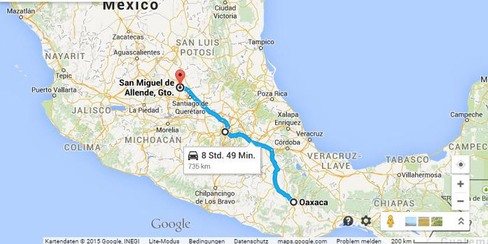 Tour from Oaxaca to Mexico City to San Miguel de Allende and back to Mexico City