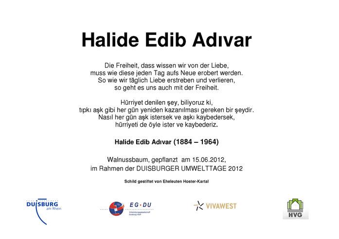 Gedenktafel Halide Edib Adivar
