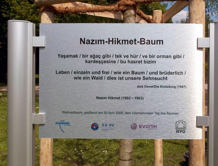 Gedenktafel Nazim-Hikmet-Baum