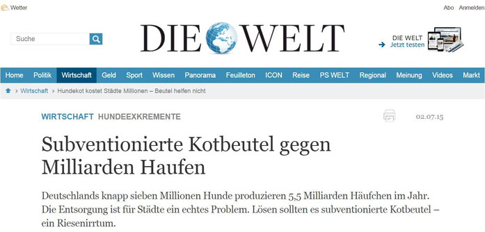 Quelle: Welt.de, 02.07.2015, Autor: Steffen Fründt