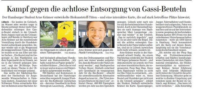 Gassi Beutel in den Lübecker Nachrichten