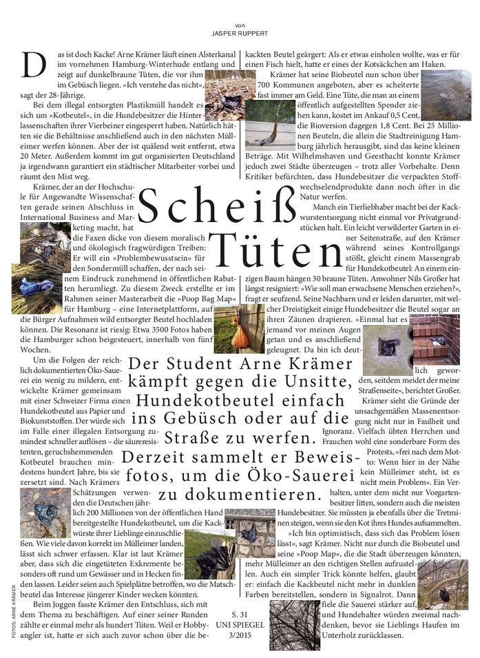 Uni SPIEGEL 3/2015 (Print), Autor: Jasper Ruppert