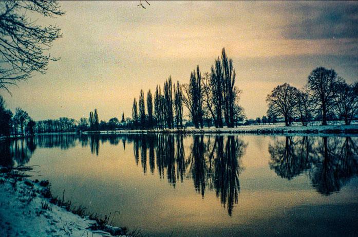 Sabine Nacke: Sonnenuntergang an einem Winterabend