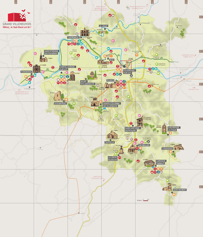 carte touristique villeneuvois