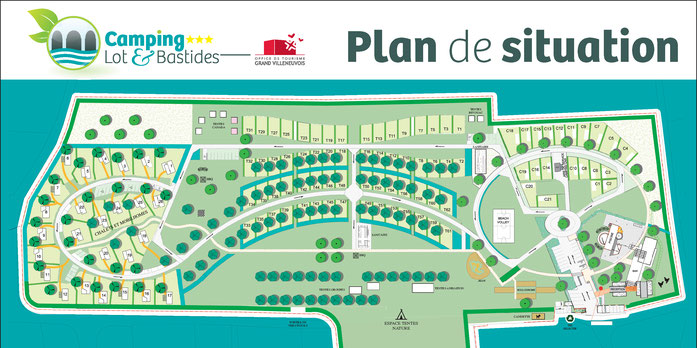 lot et bastides campsite map