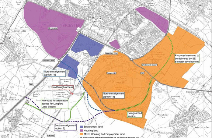 Options for the proposed Southerly Perimeter Road, Bicester