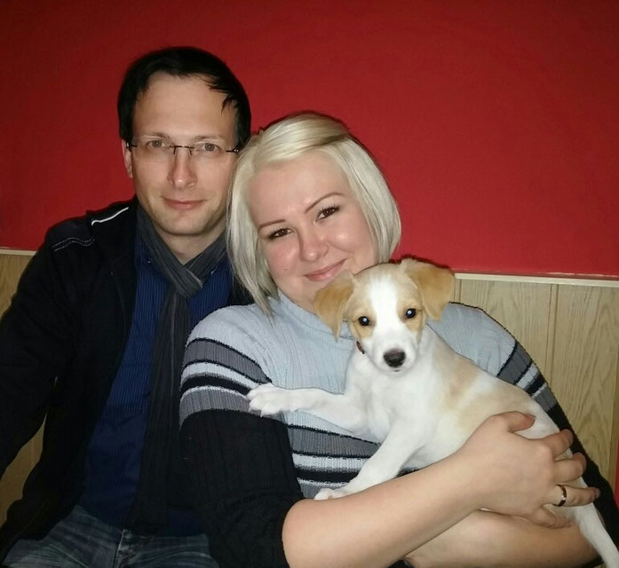 Arjen mit Nadine und Ronald