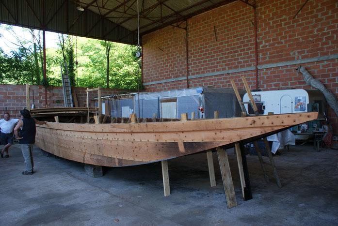 La construction d'un courpet par Max MAIOLA à Trémolat (24) en 2017