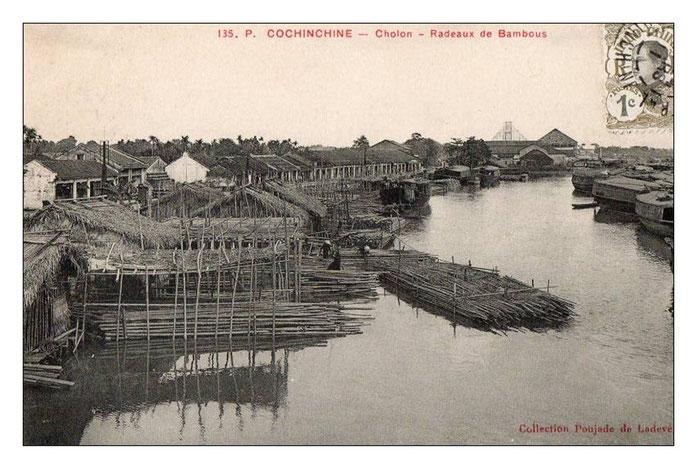 Cochinchine - CHOLON - Radeaux de bambous / manhhai CC PA