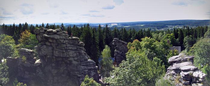 Bergsteiger auf einem der Gipfel