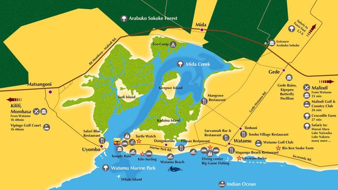 Mappa Mida Creek-Watamu
