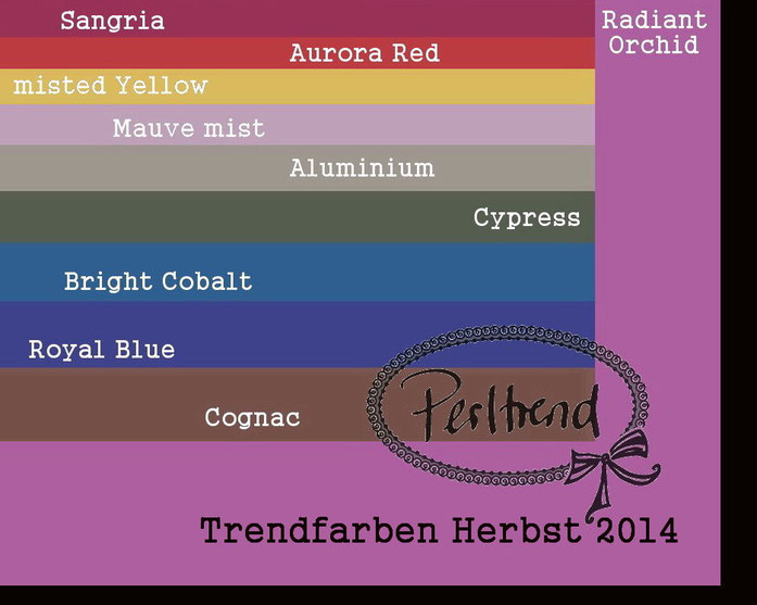 Mode Trendfarben Herbst 2014 www.perltrend.com