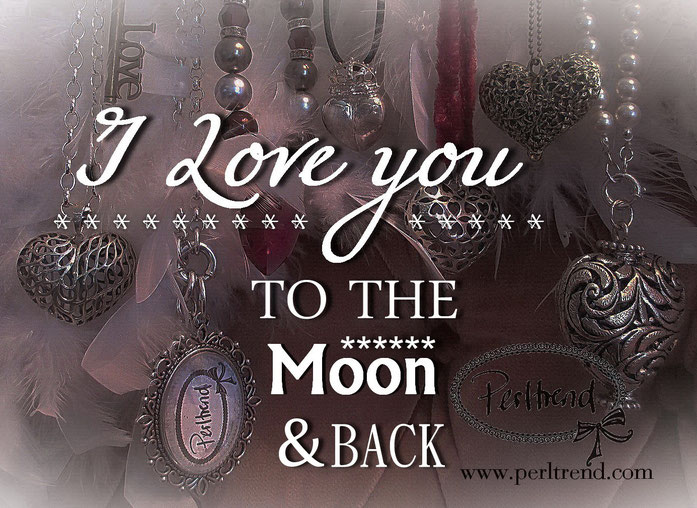 www.perltrend.com Valentinstag 2016 I love you to the moon and back 20% Rabatt auf Anhänger Silber 925