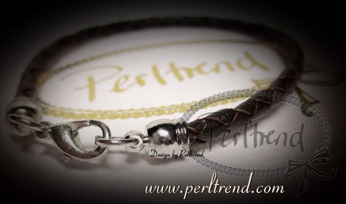 Perltrend Luzern Schweiz Schmuck Onlineshop www.perltrend.com Armschmuck Armband Armkette  Bracelet Leder dunkelbraun