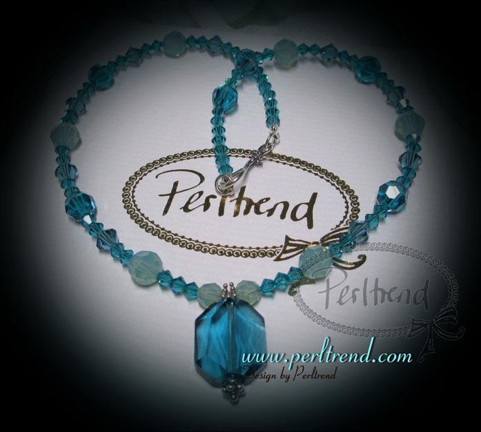 www.perltrend.com Halsschmuck Ozean Blau