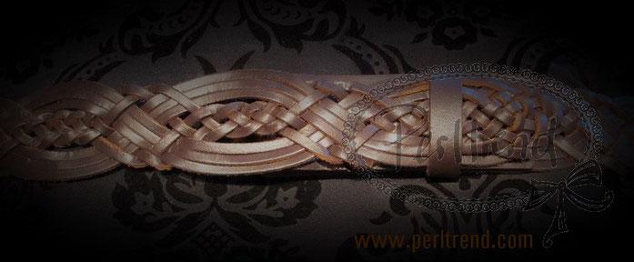 www.perltrend.com Accessoires Gürtel echt Leder braun Schnalle wechselbar