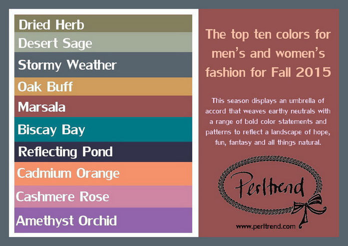 www.perltrend.com Mode Trend Farben Herbst 2015
